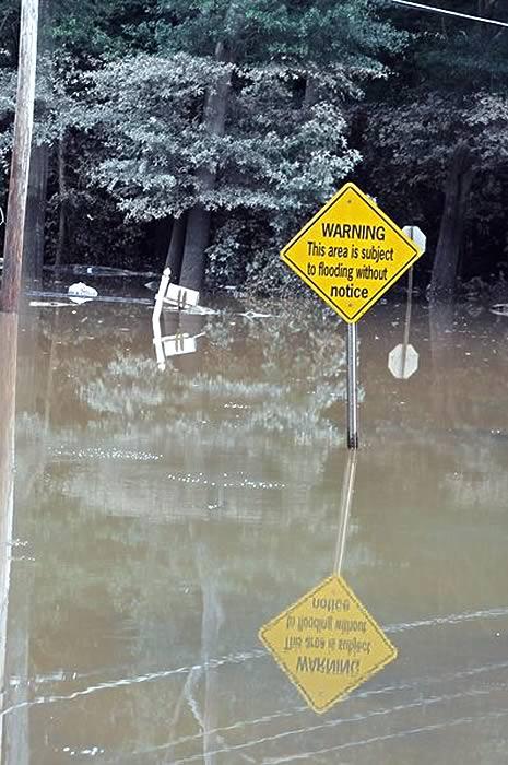 Flood damage in Georgia September