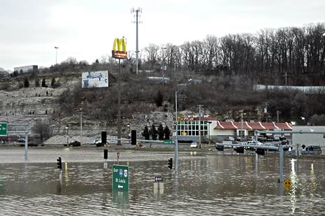 Flood damage in Missouri