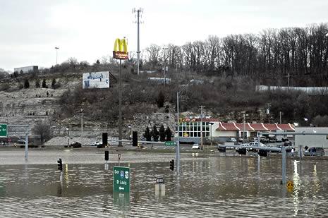 Flood damage in Missouri