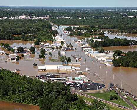 Flood damage in Tennessee May 4, 2010