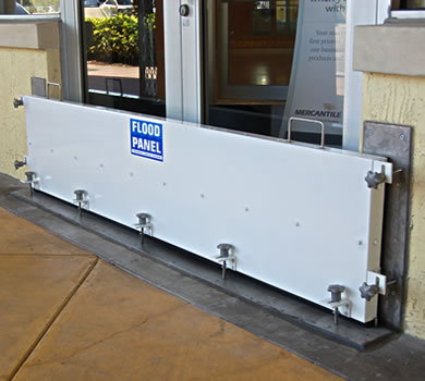 Puddle Panel Water Barrier at Mercantile Bank