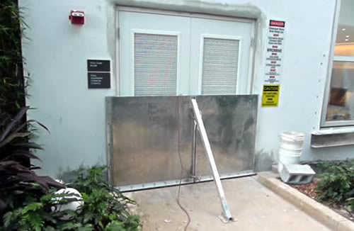 Standard flood panel installation