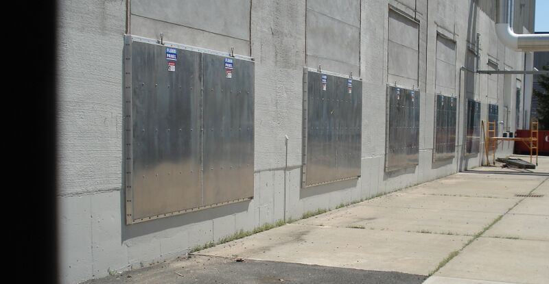 Flood Panels Equinix Building 4 New Jersey Flood Panel