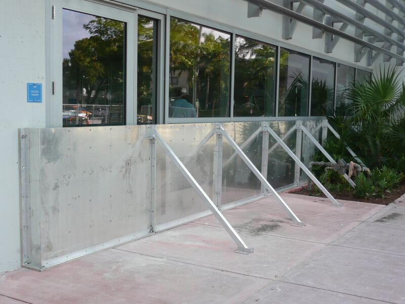 Flood Panels Multi Level Parking Garage Miami Beach