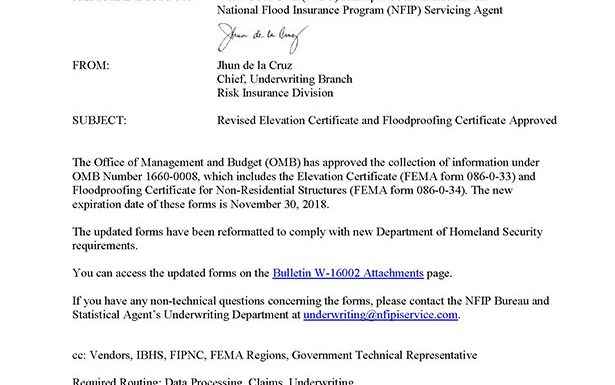 Important Information about FEMA\'s New Elevation Certificate - Flood ...