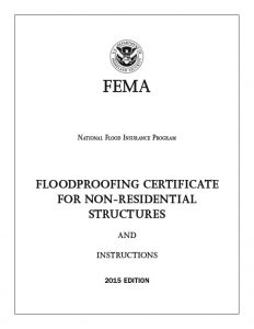 FEMA Floodproofing Certificate For Non Residential And Business Structures