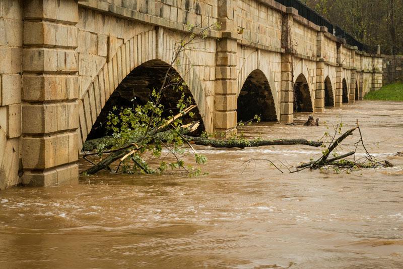 Monocracy River runoff flooding, October 30, 2012